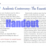 Federal Policy Academic Controversy