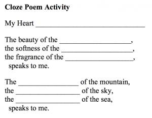 cloze-Poem