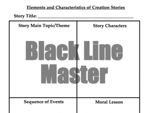 Creation Stories Graphic Organizer