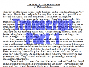 Little Mouse Sister Transcript 1