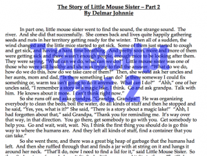 Little Mouse Sister Transcript 2