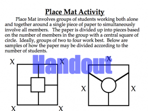 Place Mat Activity