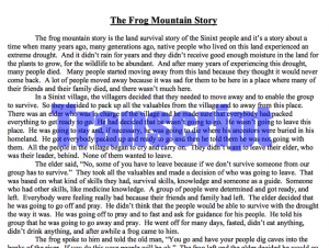 Sinixt Frog Mountain Story